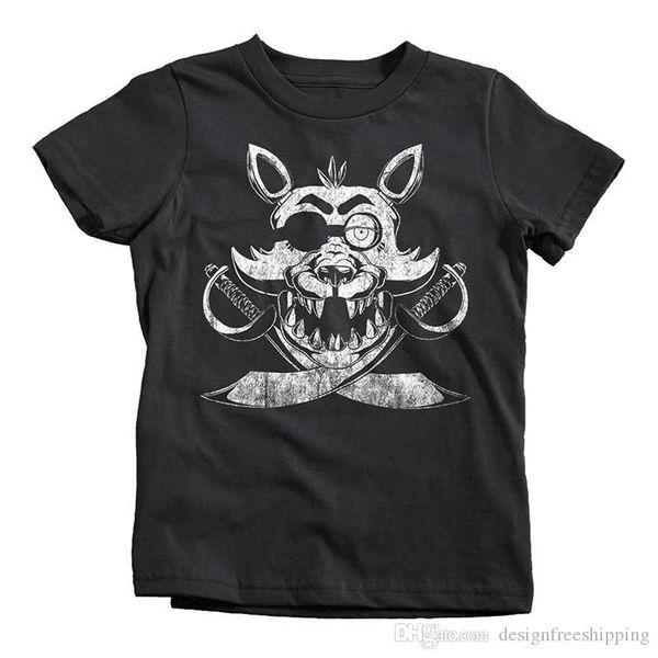 Camicia a maniche corte O-Collo per bambini Foxy Fnaf per bambini con stampa in cotone nuova estate