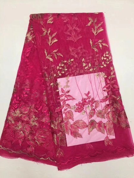 High class apparel material nice design French water soluble lace fabric for party dress multi color on sale