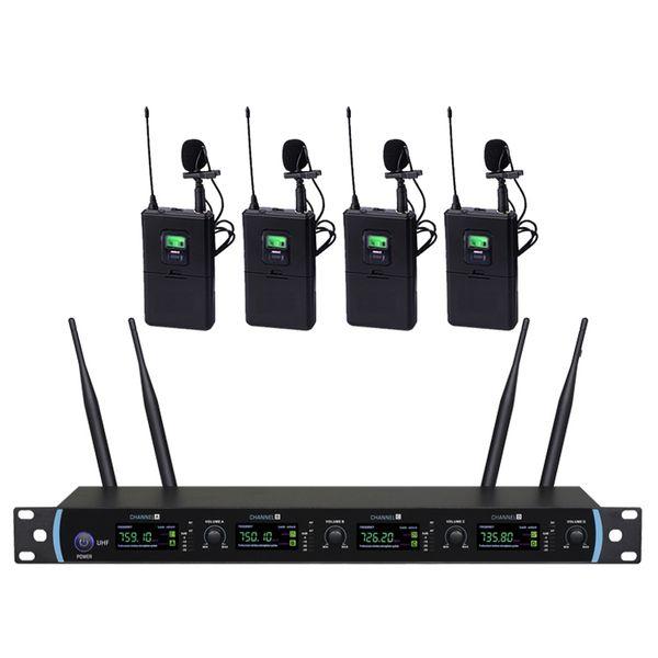 4-Kanal-UHF-Handheld-Funkmikrofon-System für Audio-Meetings mit Display
