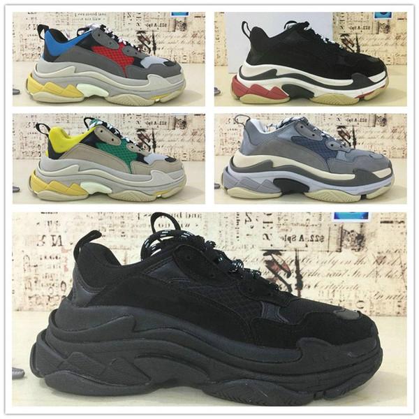 Date Triple S Hommes et Femmes Chaussures De Course Hommes Chaussures De Haute Qualité Triple-S Sneaker Triple S Casual De Luxe Papa Chaussures