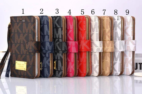 Luxury Wallet Flip PU Leather Case Card Slot Pocket Cover with Lanyard Holder Cases for iphone 7 6 6splus Samsung s6 s7 s8 s8plus note7 5new
