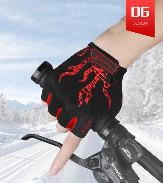 Bike Professional Women Shockproof Anti-slip Cycling Half Finger Glove Cotton EA