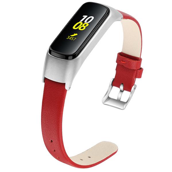 Samsung Galaxy Fit-e R375 Gruplar Watchband Saat Kayışı Yedek Bileklikler Bilezik 92006 için Deri Kayış