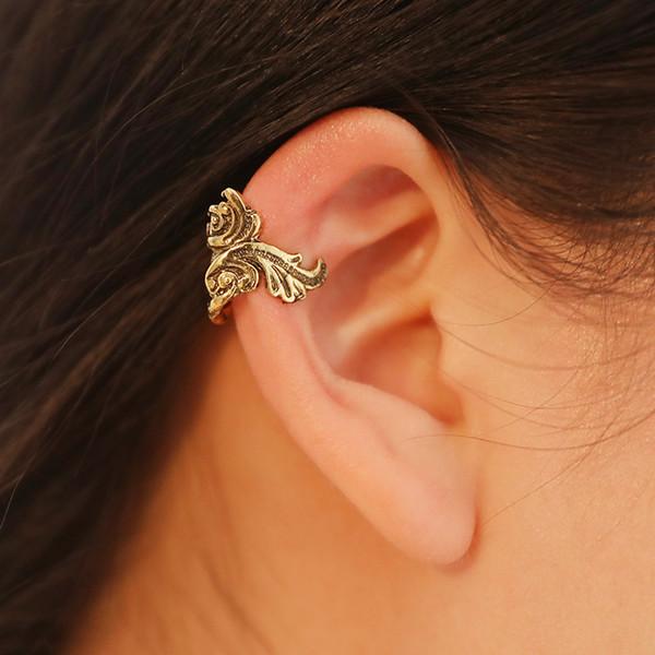 clip oreille manchette goldfish clip oreille boucles d'oreilles bijoux de mariage filles cadeau femmes boucle d'oreille