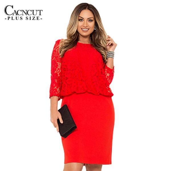 bc36cdbe69 Trabalho de escritório 5xl vestido de renda plus size mulheres dress 6xl  tamanho grande vestido de