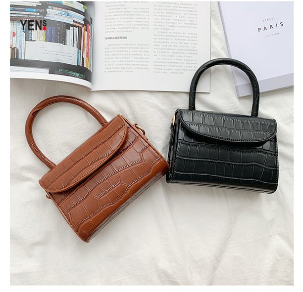 Mini Crocodile Alligator Pattern Handbag Designer Women Summer Fashion Small Shoulder Bag Cute Flap Mini Purses and Handbags Ladies Wallet