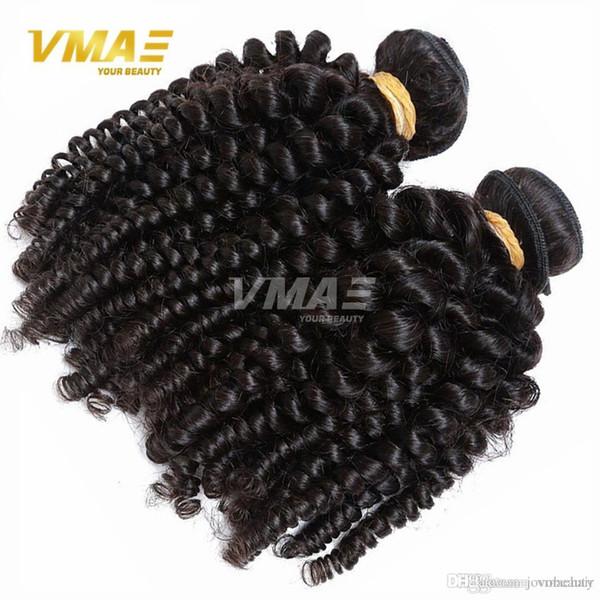 Péruvien Vierge Cheveux Afro Kinky Cheveux Bouclés 100% Extensions de Cheveux Humains Tisse Péruvien Spirale Curl Bonne Qualité 3pcs / lot