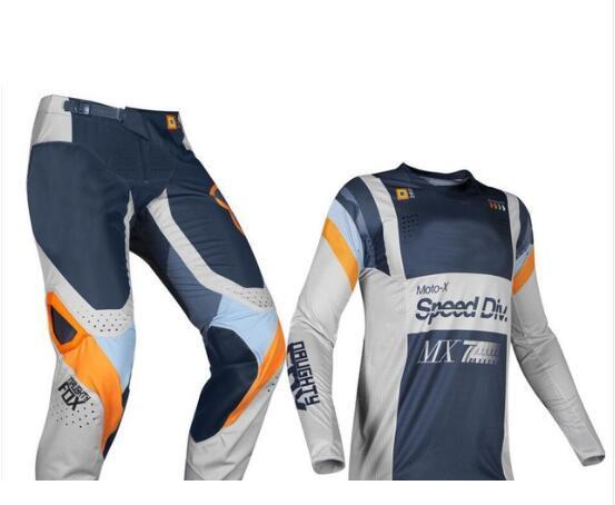 NAUGHTY Fox MX 360 Murc Jersey Pants Mens Combo Motorcycle Dirt Bike Off Road Protective Green Gear Set Racing