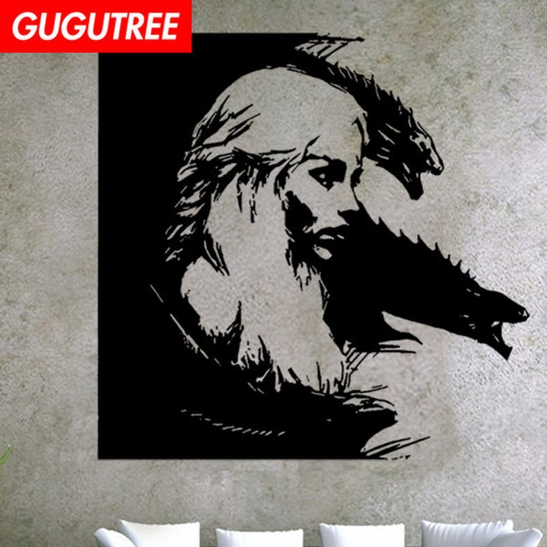 Decorate Home woman cartoon art wall sticker decoration Decals mural painting Removable Decor Wallpaper G-1599