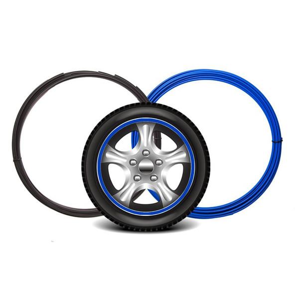 8M de moyeu de roue Protection décorative Anneau Guards enjoliveur Joint en caoutchouc Protecteur bande Hub Rim bord Anneau Autocollant