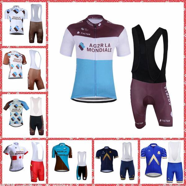 AG2R Aqua Blue team Cycling Short Sleeves jersey (bib) shorts sets summer quick dry clothing M30701