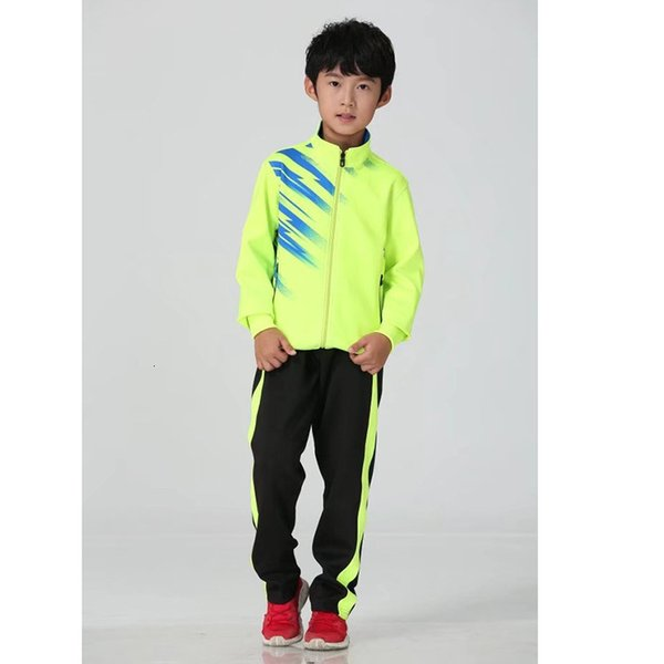 Children's green with black pants