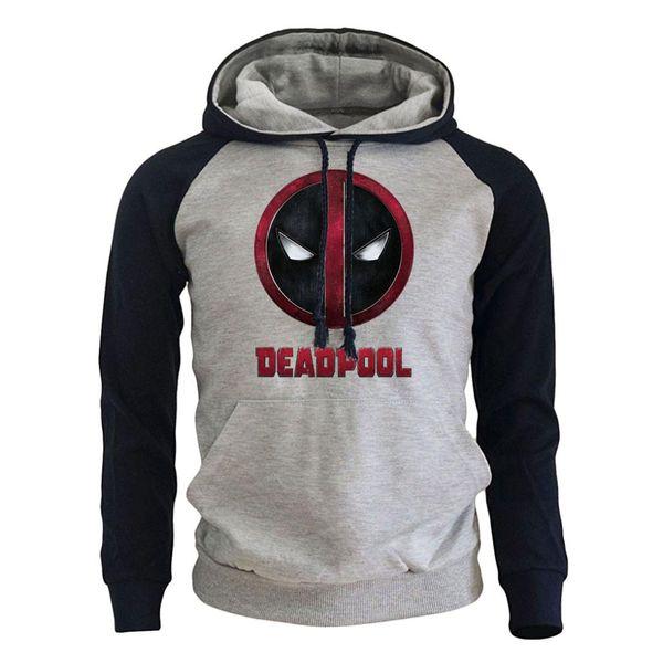 Deadpool Giacca con Cappuccio Logo Marvel Rosso