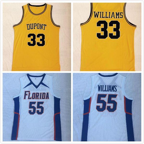 NCAA Florida Gators College # 55 Williams Basketball Jason Jersey DuPont Gymnasium # 33 Williams genähte Hemden Fotoarchiv