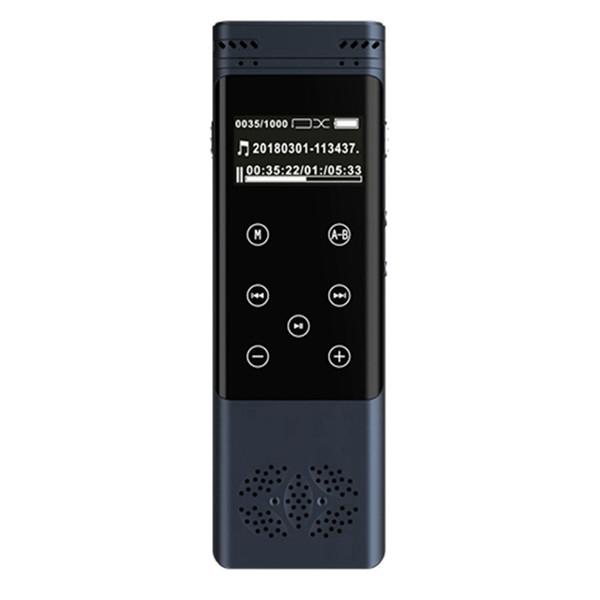 Profissional 8 GB USB Recarregável LCD Touch screen gravador de voz digital portátil Redução de Ruído Gravador de Voz Digital Gravação Estéreo
