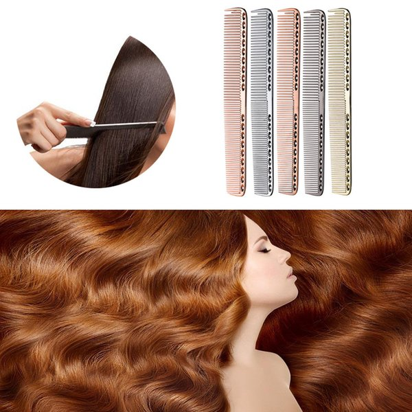 2018 Stainless Steel Professional Salon Hair Hairdressing Anti-static Barbers Comb Drop Shipping