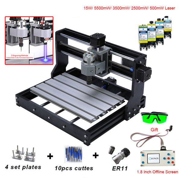 best selling CNC 3018 PRO Mini Laser Engraver With ER11 GRBL CNC Router For Hobby Engraving Machine Wood PCB PVC CNC3018 Engraver