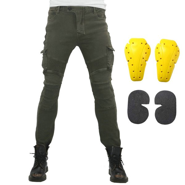 2019 New Motorcycle Riding Pants Motocross Racing Jeans Trousers Moto Pantalones With 4 X CE Knee Hip Pads Protective Pants