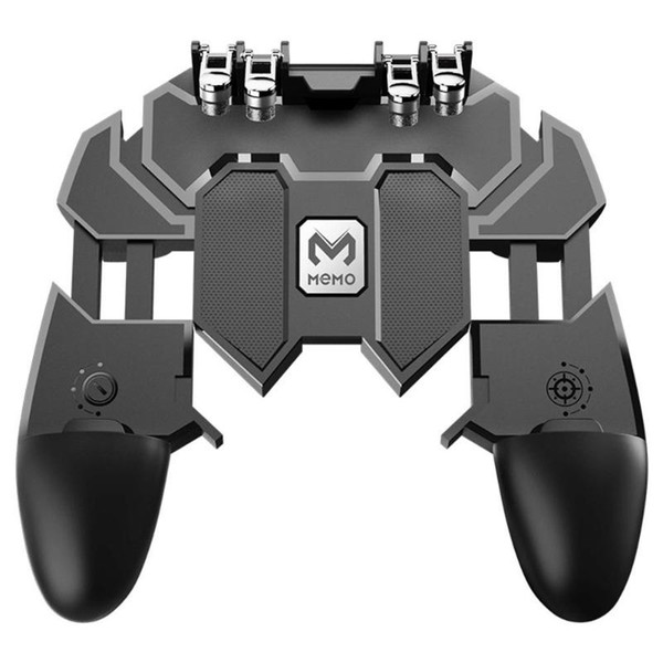 Six Finger All-in-One Mobile Game Controller Artifact Free Gaming Fire Key Button Joystick cell phone grip Gamepad L1 R1 Trigger for PUBG