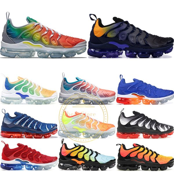 Bumblebee TN Plus Game Royal Tropical Sunset USA Grape Shark Blue Tooth Trainers Sports Sneakers Mens Women Designer Running Shoes 36-45