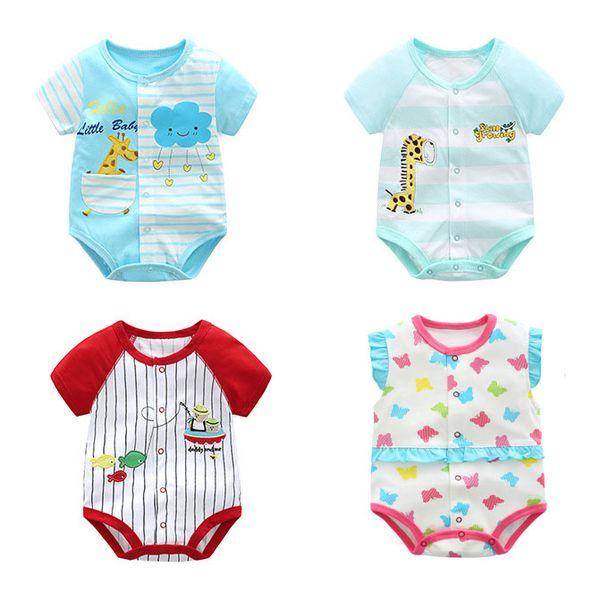 14 Estilos Nueva moda Bebé recién nacido Ropa Niños Flor del niño Animal Impresión Monos Niñas Trajes Niños Diseñador Ropa Niños