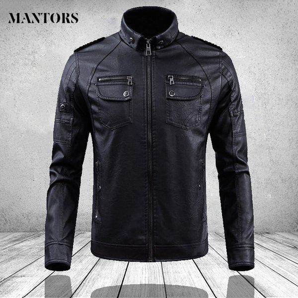 Giacche da uomo 2019 autunno inverno marca abbigliamento in pelle uomo casual in pile caldo soprabito da uomo moda Slim cappotti di alta qualità