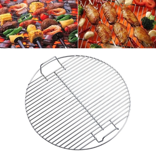 Round Nonstick Heat Resistance Stainless Steel Barbecue Mesh Grill Grid Net Kitchen Cooking Outdoor Camping Tool