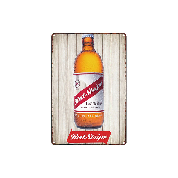 classic vintage Red Stripe Lager beer fram fresh eggs MAN CAVE tin sign Coffee Shop Bar decoration Bar Metal Paintings