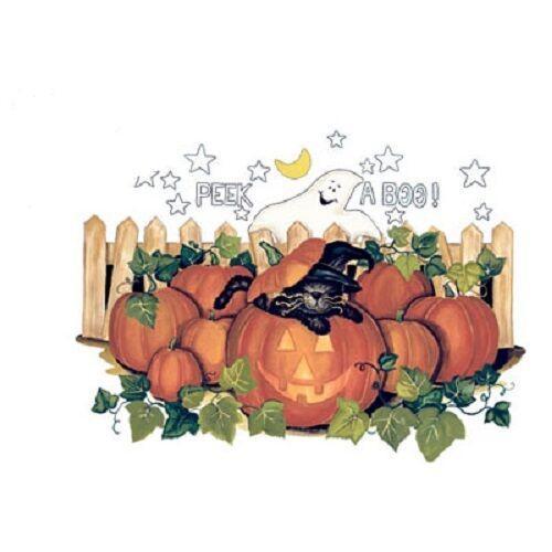 Spähen Sie A Boo Halloween Kürbisse und schwarze Katze T-Shirt Größen / Farben Mann-Frauen-Unisexart und weiset-shirt Freies Verschiffenschwarzes