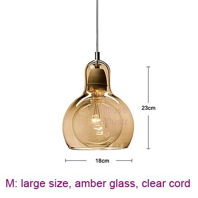 large, amber glass,clear cord