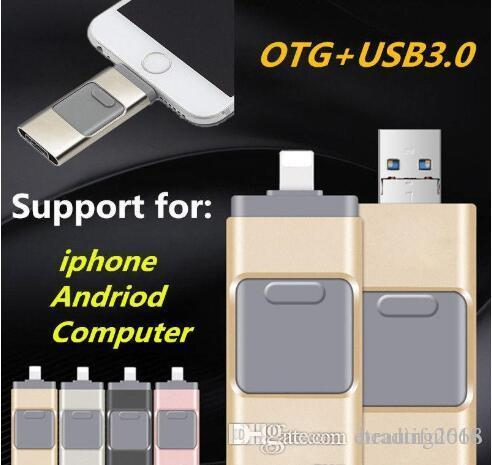32GB USB Flash Drive U Disk Memory Stick for Apple iPhone 5 5S 6 6s plus iPad OTG Pendrive For Android iOS PC
