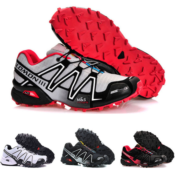 Top quality Speed Cross 3 CS III Outdoor Male Camo Red Black mens Sports sneakers trainers Speed Crosspeed 3 running shoes size 40-46