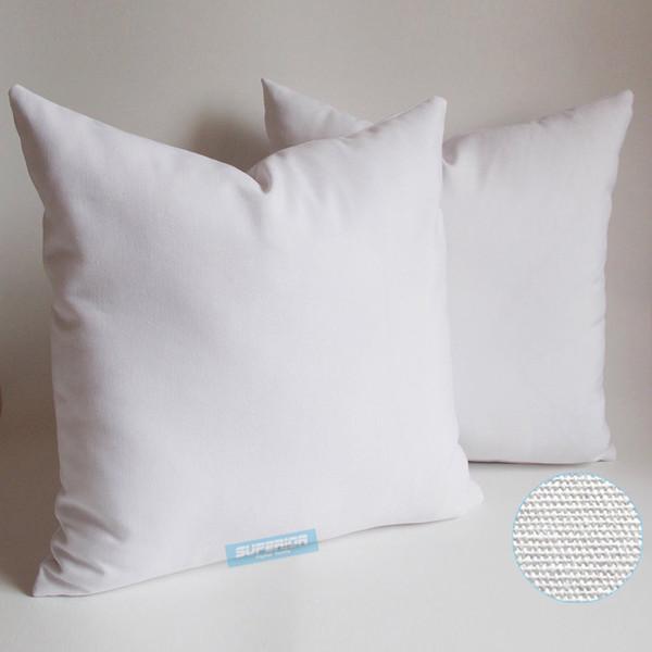 1 stücke Alle Größe 8 Unzen Reine Baumwolle Leinwand Kissenbezug Mit Verstecktem Reißverschluss Natürliche Weiße Farbe Blank Baumwolle Kissenbezug Für Benutzerdefinierte / DIY Druck