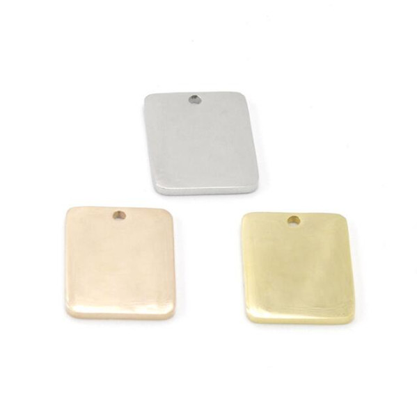 15 * 20mm Edelstahl-Halskettenanhänger-Kundengebundenes Rechteck bezaubert für den DIY Schmuck, der das Finden der Bestandteile bildet, wholesale freies Verschiffen