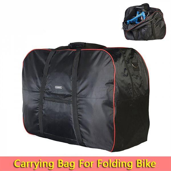 Dobrável Bicicleta Transportadora Saco de Embalagem Carry Bag Bag Embalado Carro Engrossado Transporte Dobrável Bicicleta Transporte Admissão # 191450