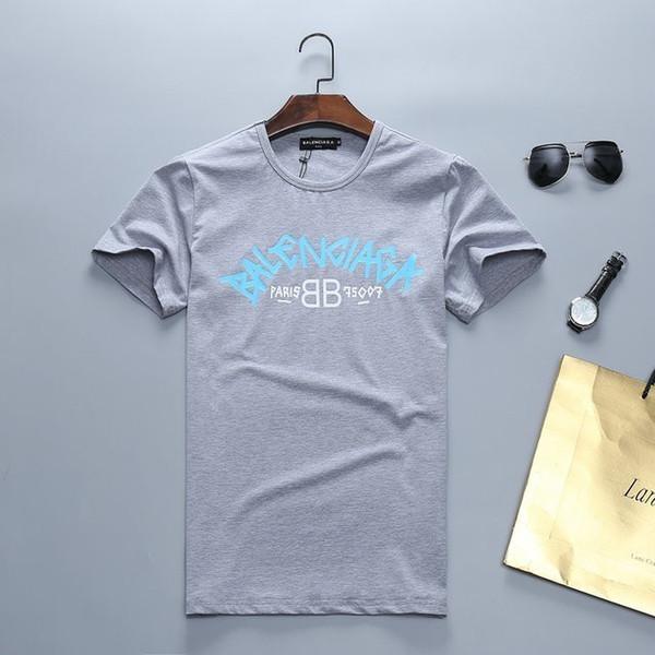 2019 Homens Camisetas Verão Novo Padrão de Impressão Bonito Juventude Camisetas Pure Cotton T-shirt de Manga Curta 3019 # TQW99968974