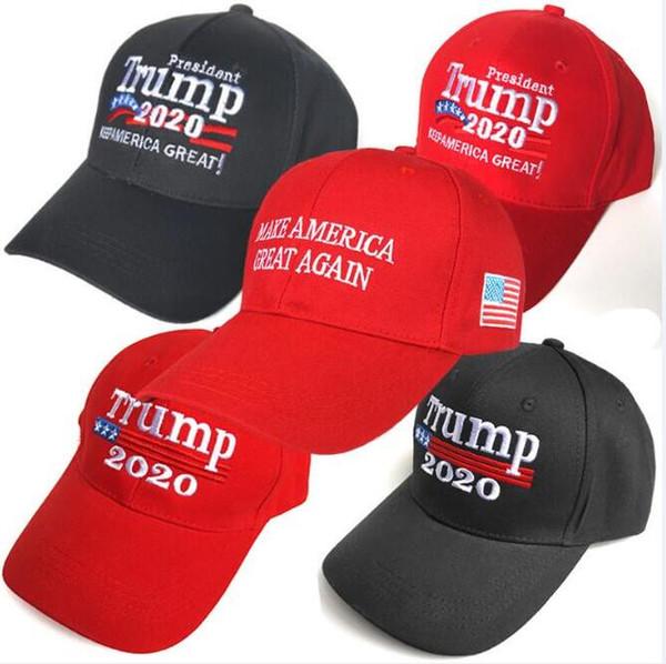 top popular 2019 Hot sales Donald Trump 2020 Baseball Cap Make America Great Again Hat Embroidery keep America Great hat Republican President Trump caps 2021