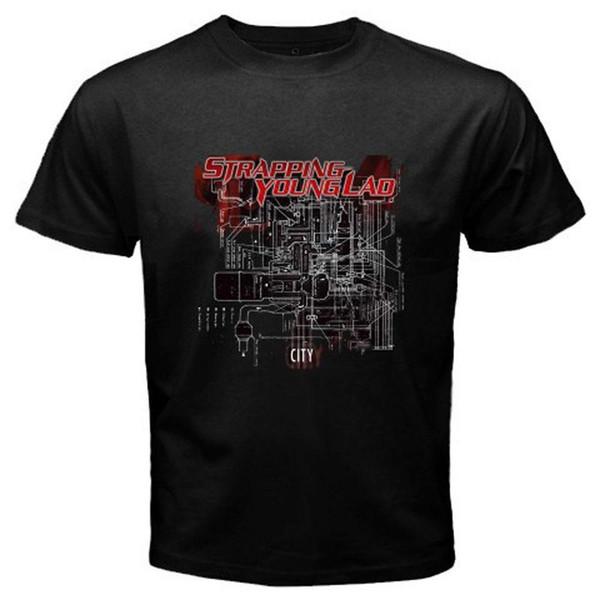 Mens designer t shirt camisa de cintilação jovens LAD Trash Metal Banda dos homens T-Shirt Preta Tamanho S M L XL 2XL 3XL