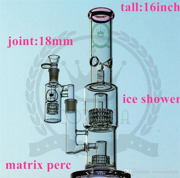 Новые Бонг водопроводы Tender Per Съемная Купол Проц Beaker Основание Nail Стекло Бонги Стекло с стеклянной миске мензурку бом