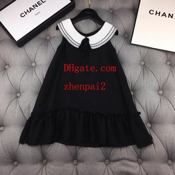 2019 summer baby girls dress Classic small lapel chiffon doll dress children clothing casual fashion dresses kids clothes girls ABD-26