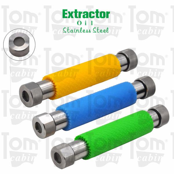 Extrator de óleo de aço inoxidável 304 com proteção de silicone Extrator de tubo de aço metálico