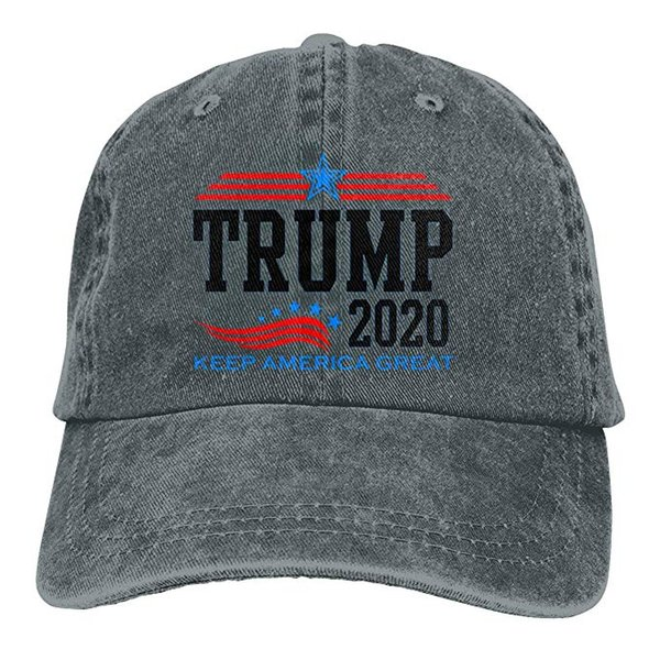 2019 New Custom Baseball Caps Keep America Great President Trump for 2020 Mens Cotton Adjustable Washed Twill Baseball Cap Hat