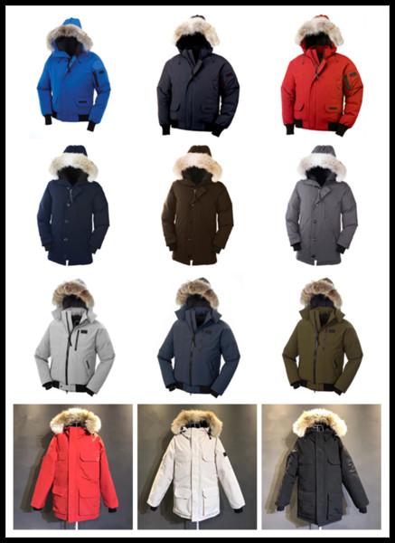 C-02 2022 Beyaz Kaz Ceketler Erkekler Down Coat Park Kapşonlu Sıcak Ceketler Erkekler Parka Erkek Tasarımcılar ceketler Dış Giyim Coat Erkekler Kış Ceket Park