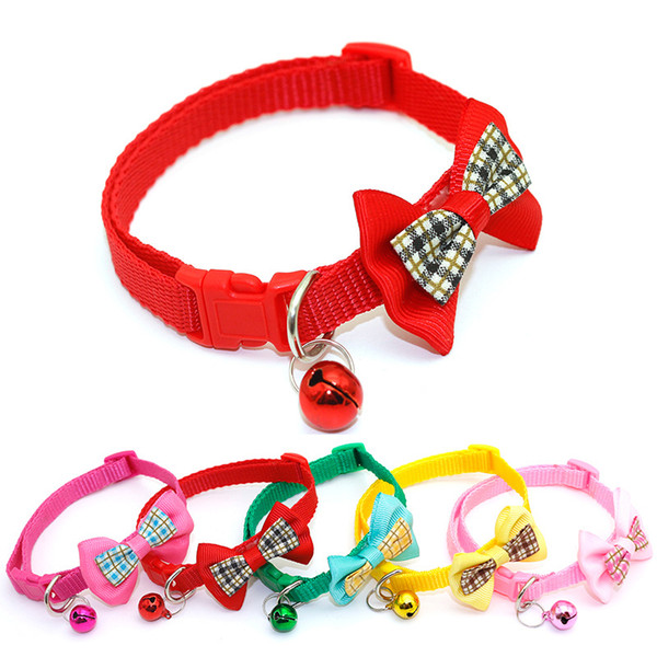 Cat Collar Breakaway with Bell - Bowtie Style per Kitty regolabile