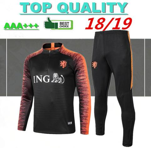 2018 Netherlands soccer Jacket Tracksuit 18 19 chandal Netherlands training suits ROBBEN MEMPHIS PERSIE Soccer Jersey training sports wear