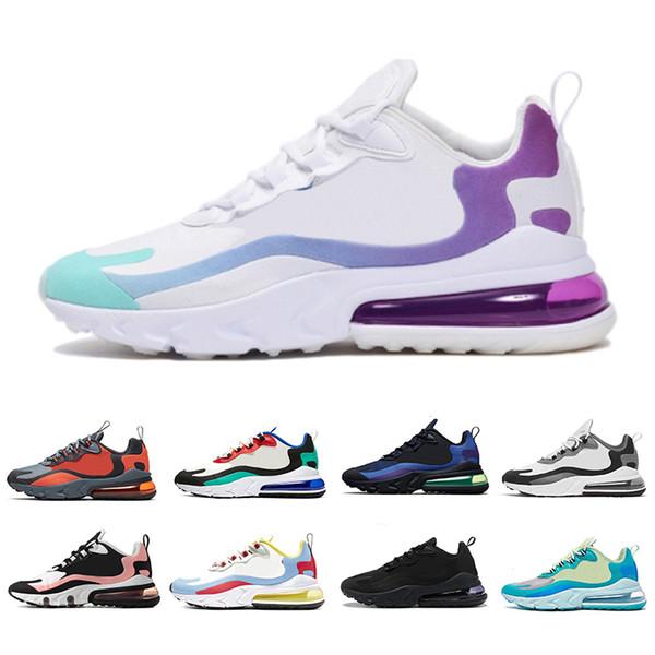 Nike AIR MAX 270 React shoes  Hot Punch Wolf Gris Hommes Femmes Triple Noir Blanc Tigre Chaussures De Course olive Training Sport Hommes Baskets Zapatos Sneaker
