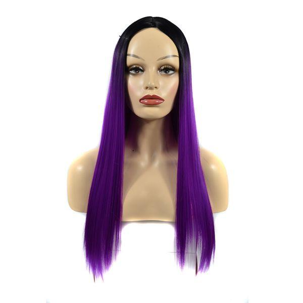 60 cm Moda Feminina Longa Reta peruca Senhora Cabelo Cosplay Peruca Festa de Alta Densidade Temperatura para As Mulheres Africano Bonito 2019 novo