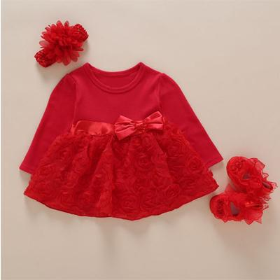 red long sleeve bow