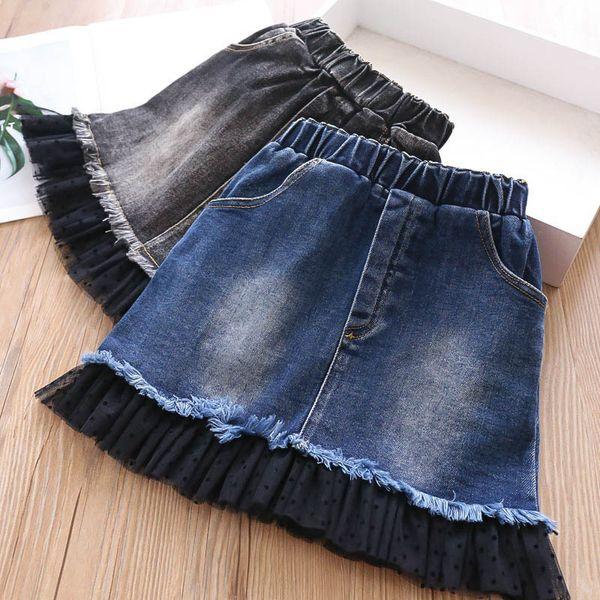 девушки юбки кружева детские юбки девушки падают одежда новая детская дизайнерская одежда девушки юбки карандаш детская одежда A7450
