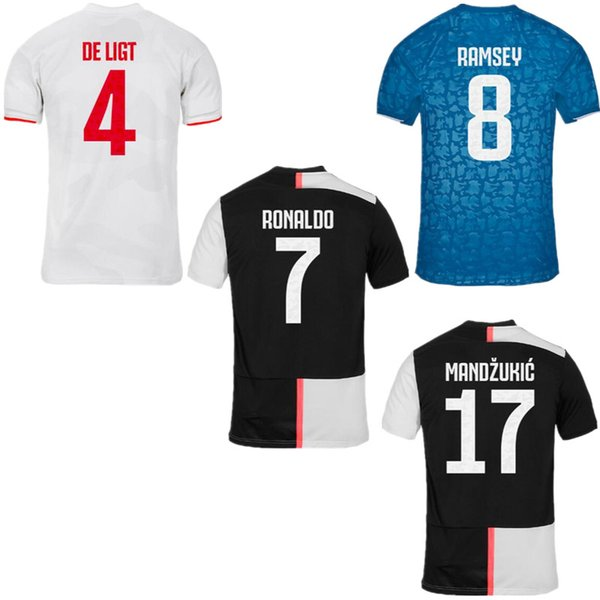 2019 RONALDO JUVENTUS Soccer Jersey 3rd 2020 JUVE Home away DE LIGT DYBALA HIGUAIN Kids Kit Camisetas Futbol Camisas Maillot Football Shirt